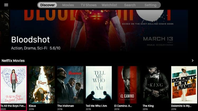 A Interface do aplicativo VivaTV é compatível com seu Fire TV Stick