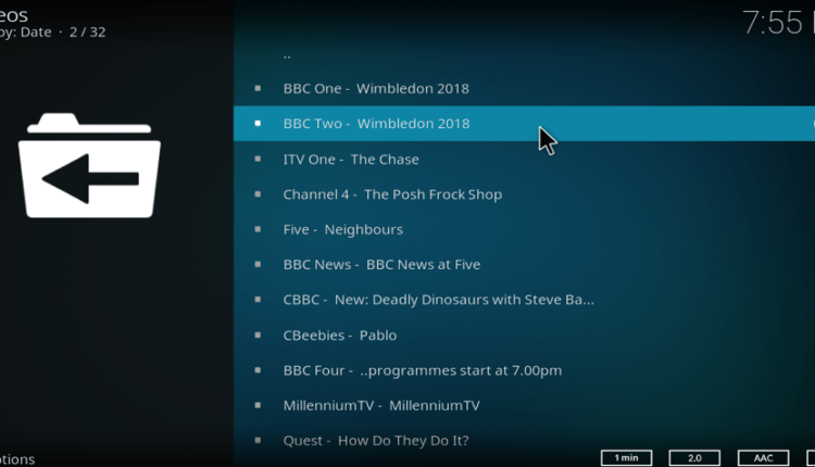 UK TV Channels list TVCatchup
