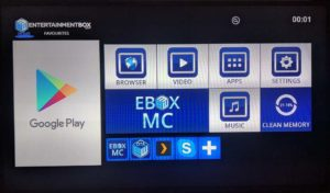 entertainment box dashboard