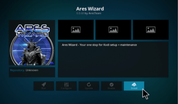 ares wizard install step 18