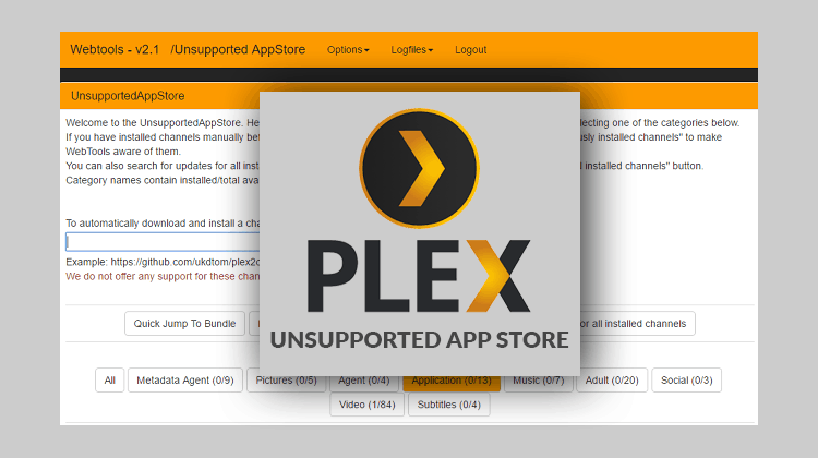Install Plex Unsupported AppStore