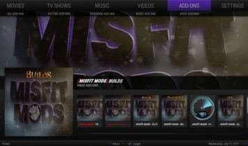 misfit is one the most popular Kodi Builds for Firestick