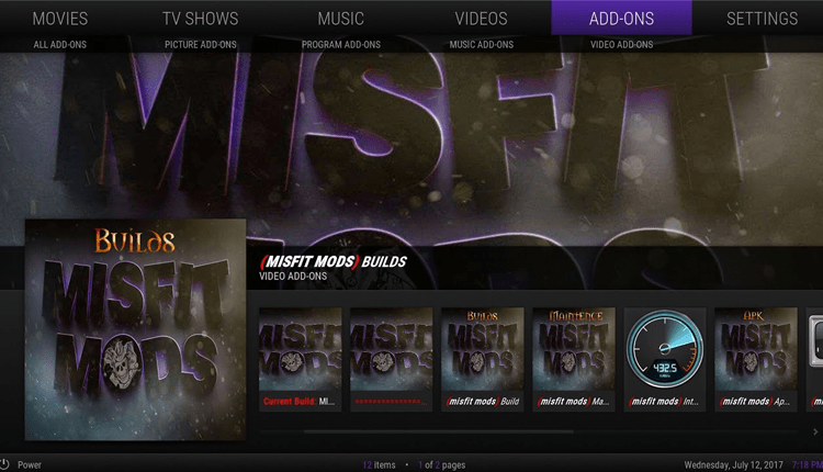 How to Install and Use the Misfit Mod Lite Kodi Build