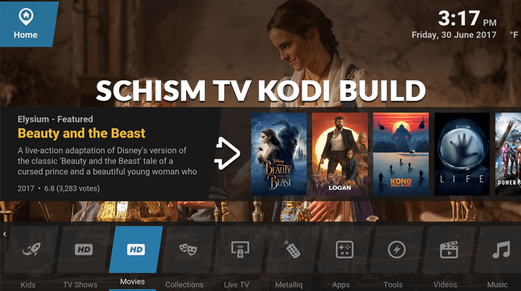 schism tv kodi build