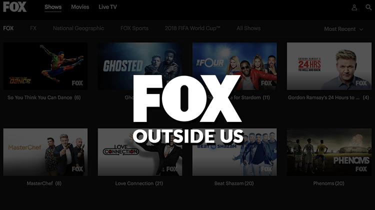 watch fox outside US