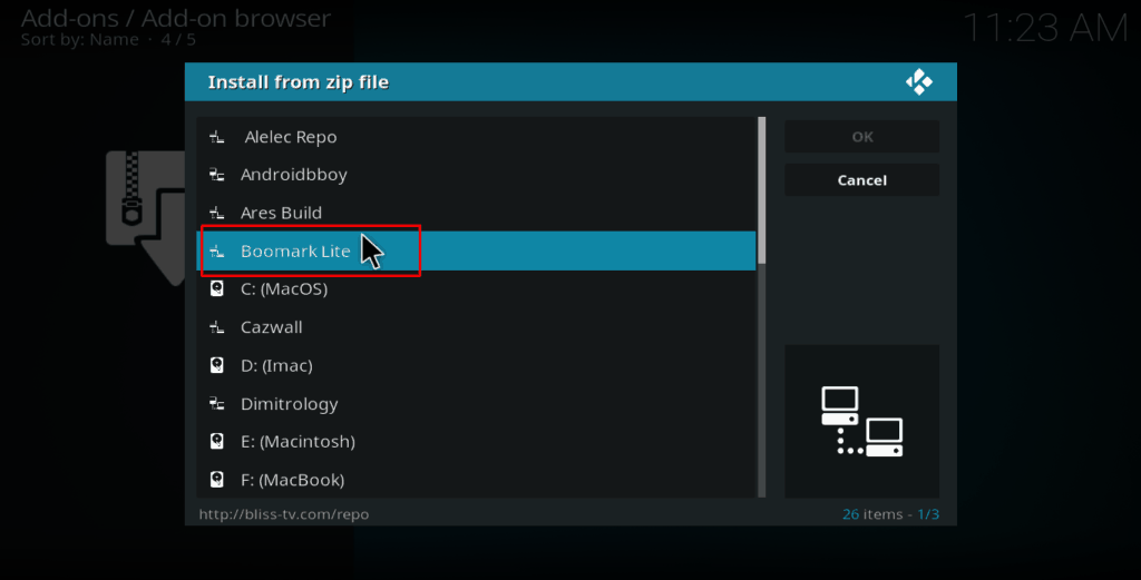 Kodi Bookmark Lite