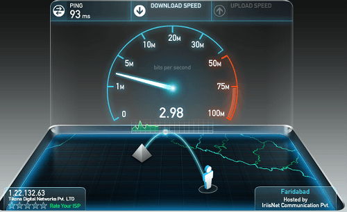 SpeedTest bandwidth throttling