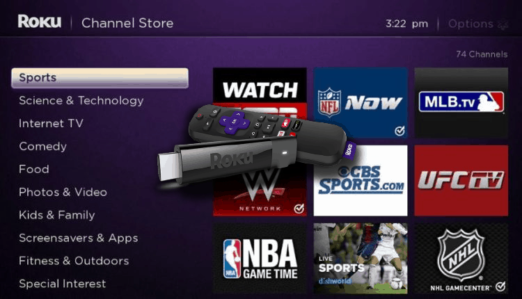 Watch Live Sports on Roku for Free!