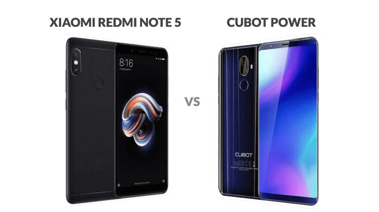 Xiaomi Redmi Note 5 vs Cubot Power 4G Reviewed & Compared