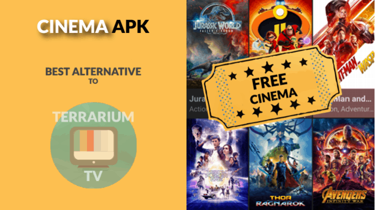 Cinema APK may be your best streaming option to replace Terrarium TV