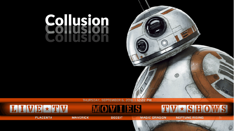 Collusion is a Build for Kodi