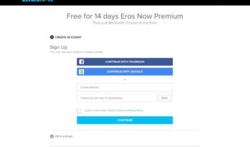 Create an account on ErosNow