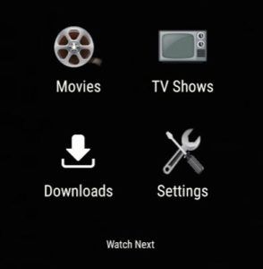 Main Morph TV APK control screen
