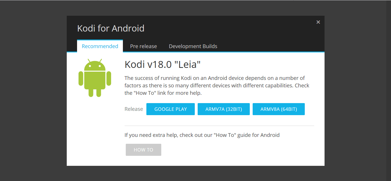 Kodi 18 Leia for Android