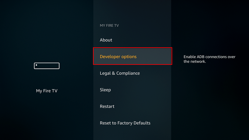 Developer options Firestick