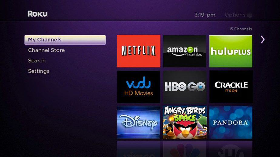 Roku's interface