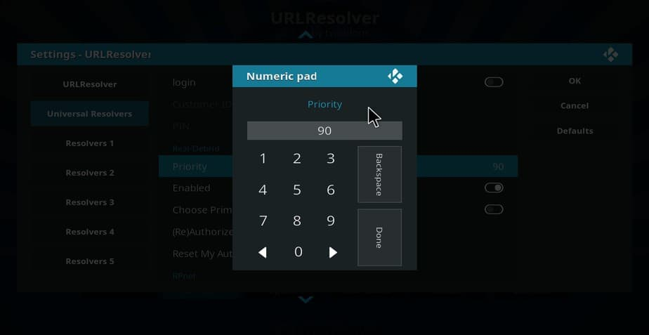 Give Real-Debrid priority on universal url resolver on Kodi