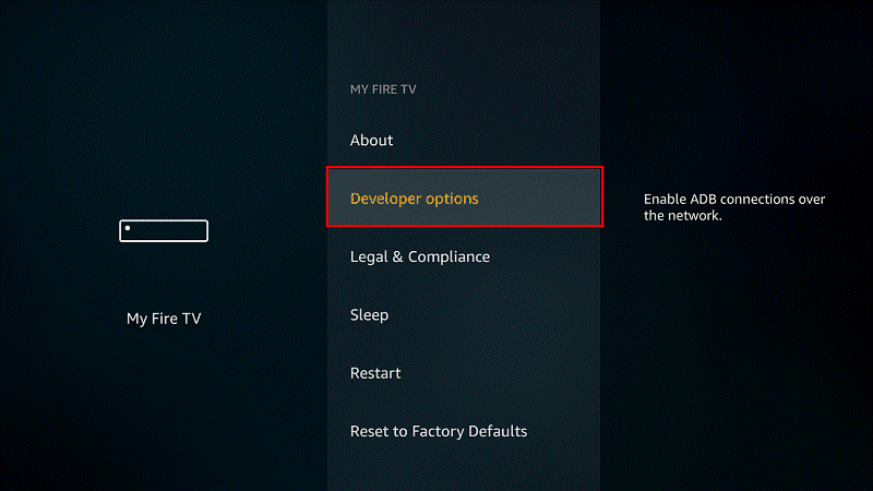 Turn on ADB bugging and accept the unknown sources on your Fire TV Stick or Fire TV