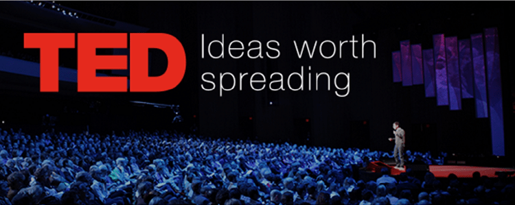 TED is a non-profit organization dedicated to spreading thought-provoking and motivational ideas