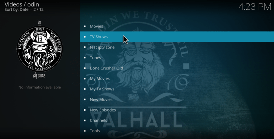Turn your VPN on and enjoy Odin Addon on Kodi