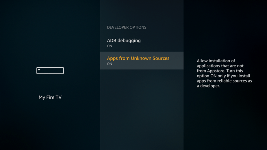 Allow apps from Unknown sources on Firestick or Fire TV