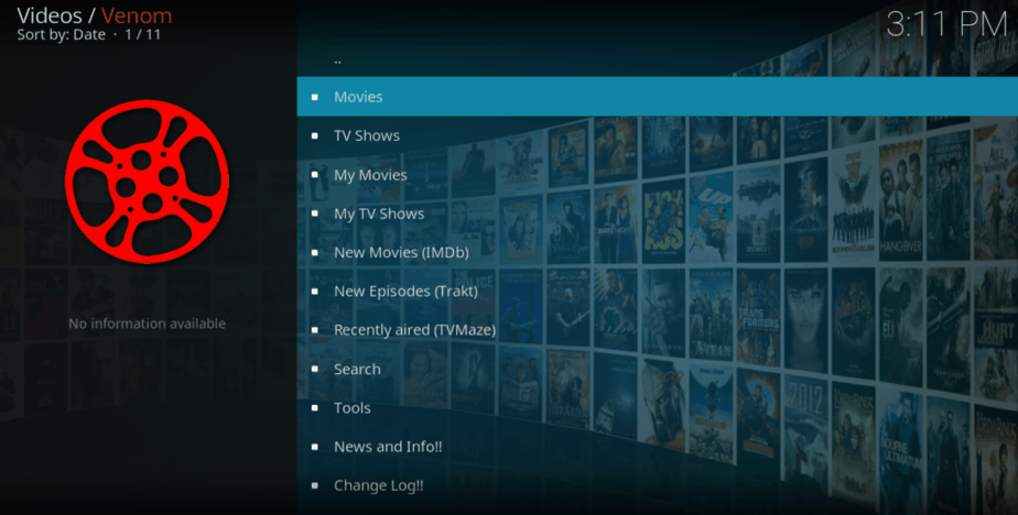 After the Install Venom Kodi Addon, you'll find tons of high quality Movies and TV Shows