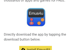 Install EMUS4U in iOS devices