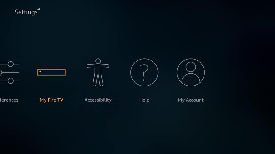 Select the Fire TV