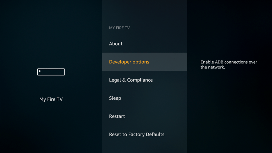 Developer options on Firestick