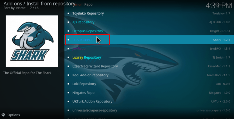 Select Sports Classic repository to proceed with the Install Sports Classic Kodi Addon