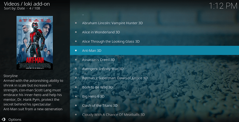 Loki Addon is a new but excellent among the Kodi Addons to Watch 3D Movies and TV Series