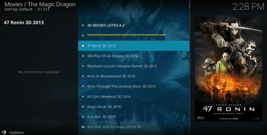 Magic Dragon is the best among the Best Kodi Addons to Watch 3D Movies and TV Series