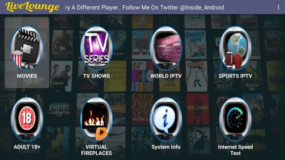 When Live Lounge APK Install is complete, open and enjoy the plethora of contents offered