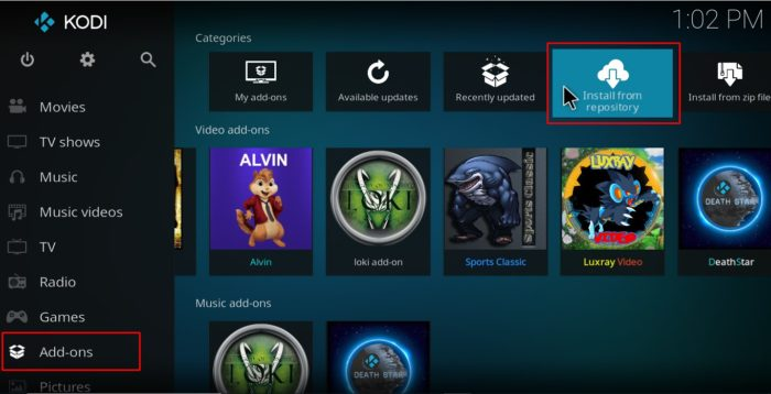 No proceed with the repository install to finally Install Nemesis AIO Kodi Addon