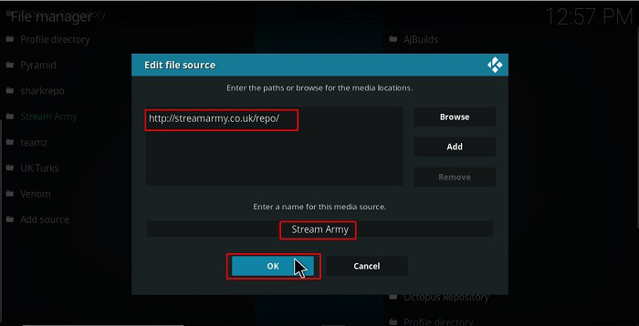 To install Nemesis AIO Kodi Addon you need first enter the stream army's url source