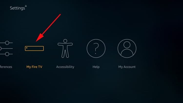 To Install BeeTV app select My Fire TV on your device