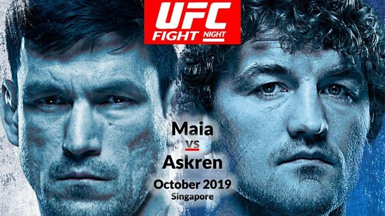 UFC Fight Night 162 Maia vs Askren in Singapore on Kodi