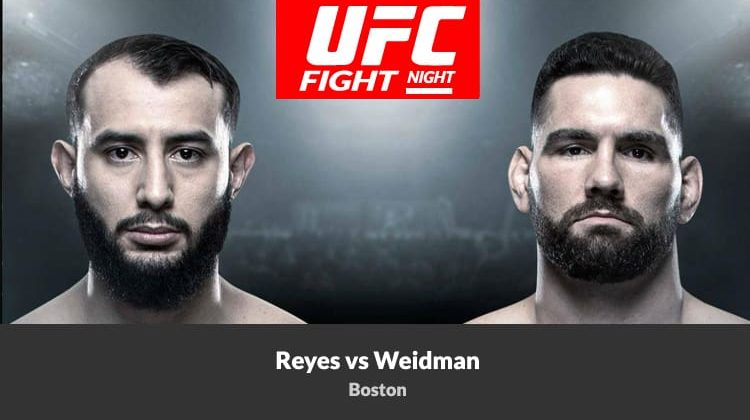 Watch UFC Fight Night Reyes vs Weidman in October on Android and Kodi