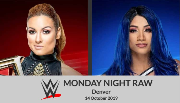 Whatch WWE Monday Night Raw, October in Denver Colorado on Kodi