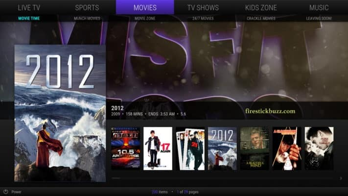Misfit is one of the lightest Kodi builds for movies and TV shows