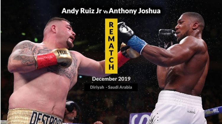 Watch the Rematch Andy Ruiz Jr vs Anthony Joshua online on Kodi