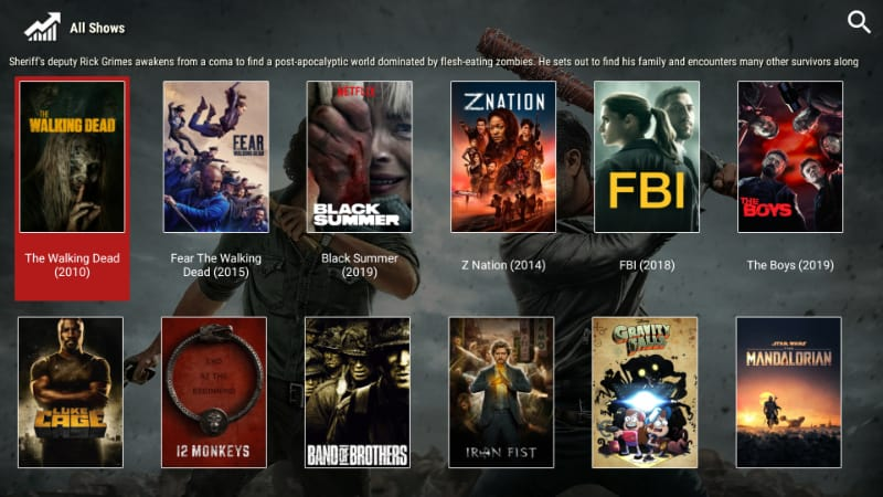 after install, enjoy all the movies and TV Shows on Morphix TV