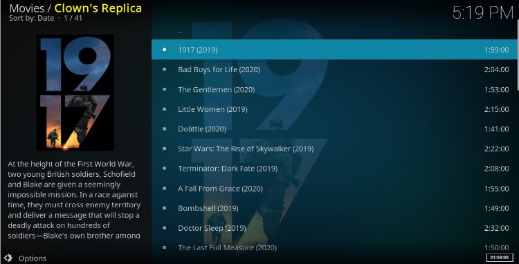 After install Clowns Replica Addon enjoy many excellent streams on your Kodi