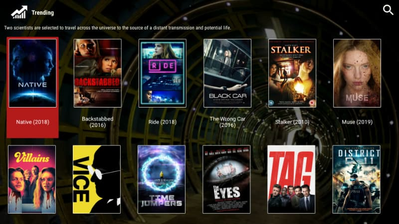 After install Morphix TV you'll realize how simple is to play a movie or TV Show