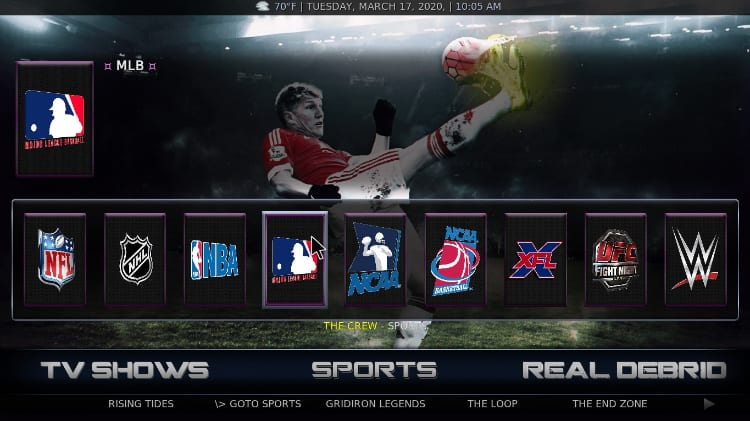 After the BK Nox Build install on Kodi, enjoy many sports streams