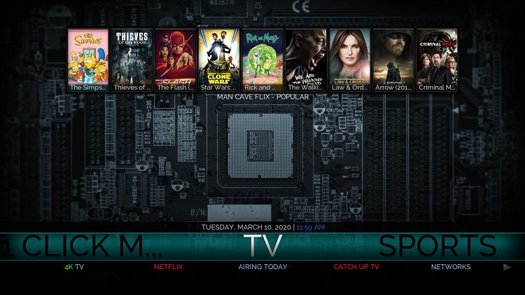 After the install, enjoy Movies TV Series and Sports on Streamline Kodi Build