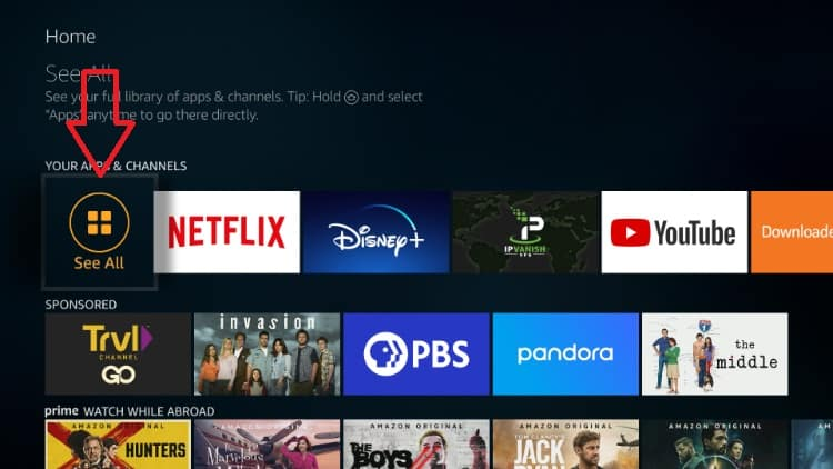 After the install, you'll find Oreo TV under your Firestick app menu
