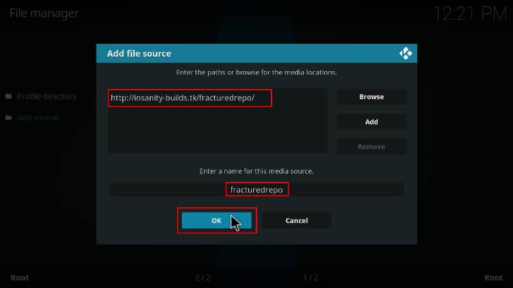 Add file source to download fratured repo to install joker kodi builds