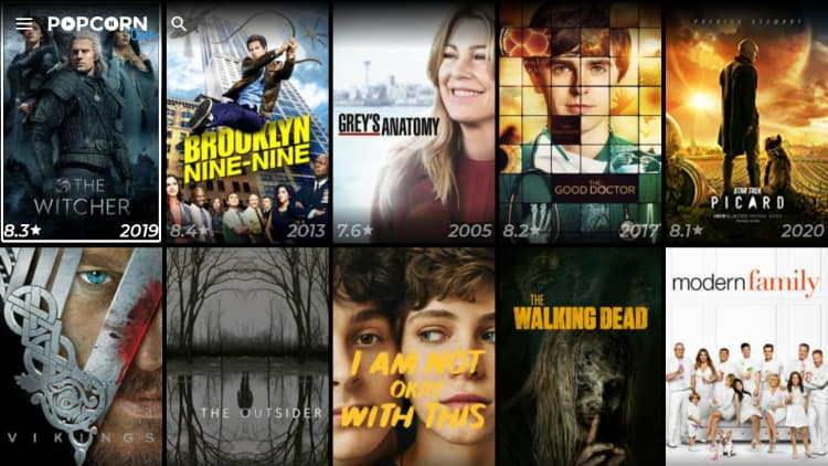 Popcorn time is a streaming app with a huge database and smooth playing available to install on Firestick