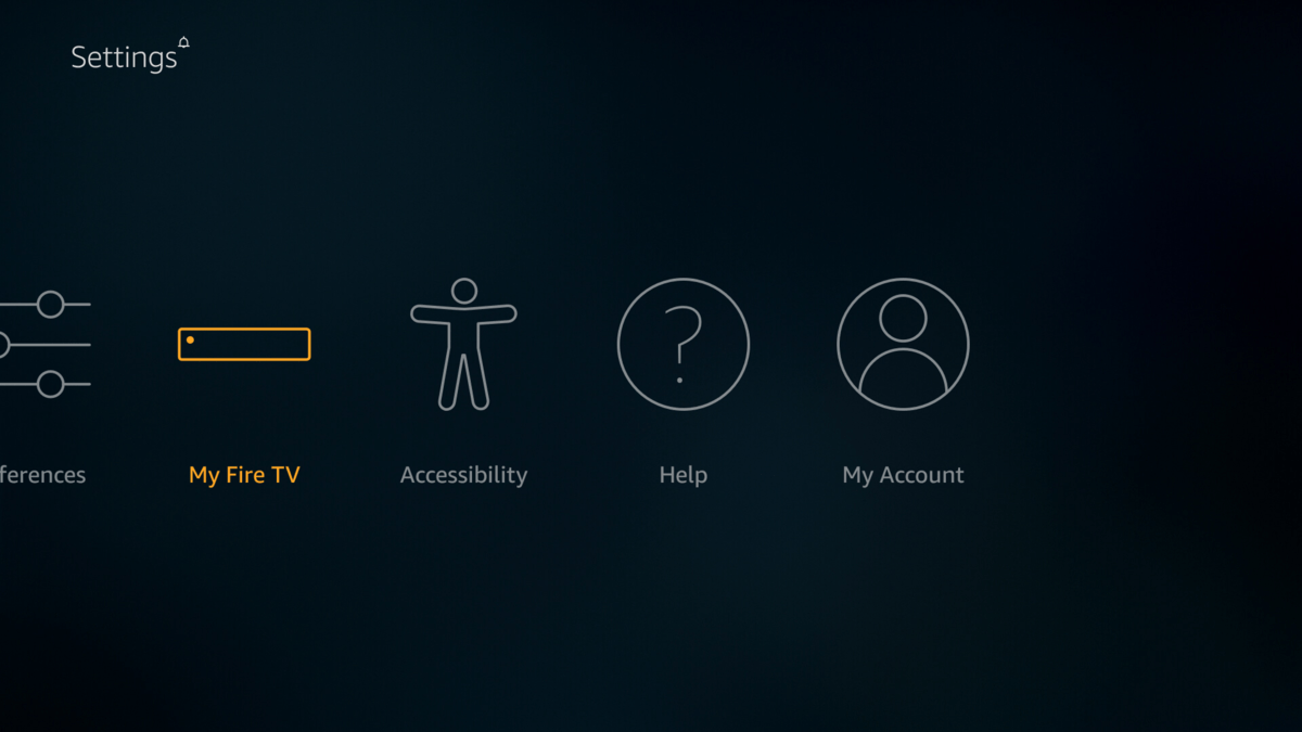 Select My Fire TV on Settings